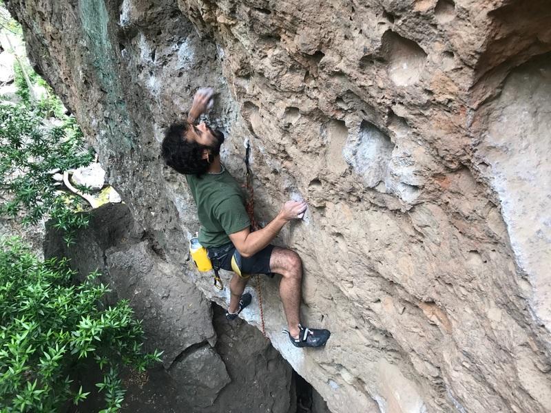 "Rock Climbing Photo: Finishing up ""Letterbox"" (11b/c) // phot..."