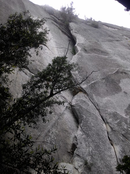 Crack 'N Up is inside the crack, DZ Arete is on the edge.