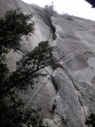 Rock Climbing Photo: Crack 'N Up is inside the crack, DZ Arete is on th...