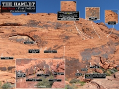 Rock Climbing Photo: Routes at the Hamlet. First bolts circled.Cheers. ...