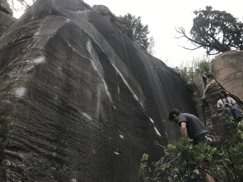 The Price is Wrong (V7) on the left, Chubs (V? Project) on the right
