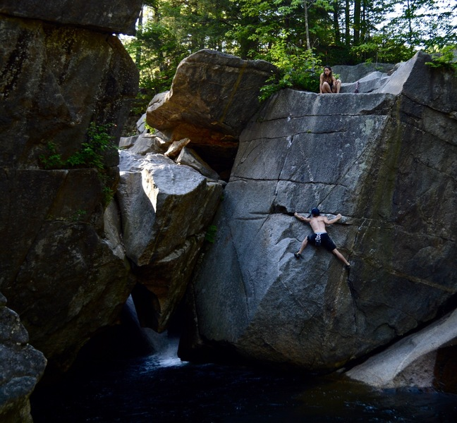 Rock Climbing Photo: Aaron Burns on Cassius Blue.