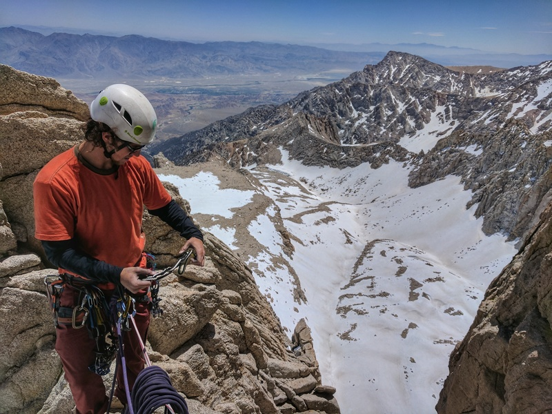 Rock Climbing Photo: Chris Astraus at the notch at the top of the 2nd p...