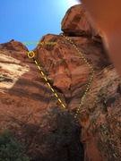Rock Climbing Photo: View from intersection ledge.  Will's Rush on Left...