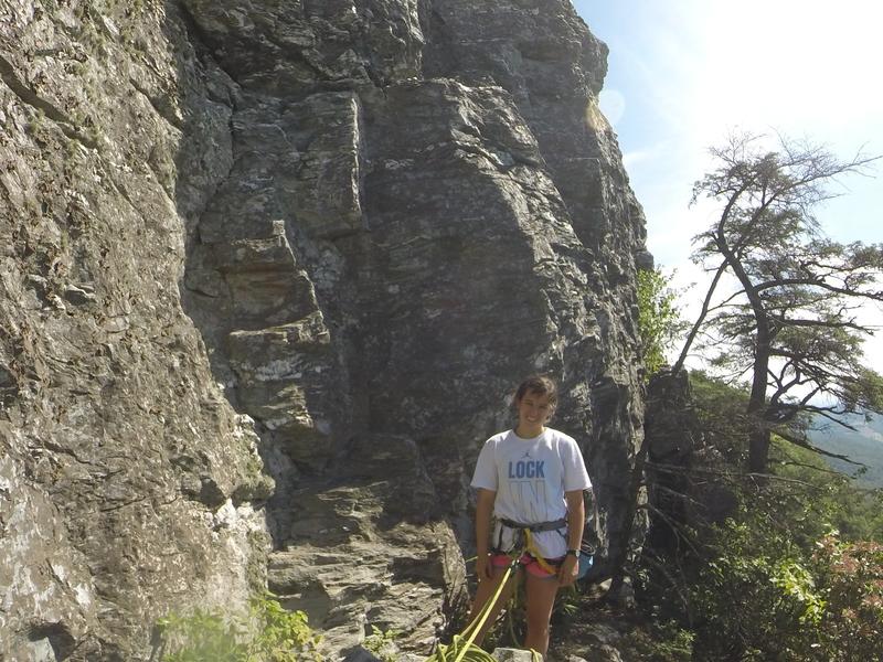 Rock Climbing Photo: Alli at the base