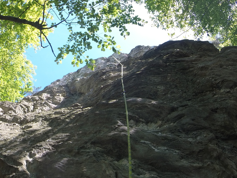 Rock Climbing Photo: This a view of the general line to be followed.