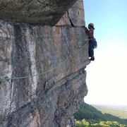 Rock Climbing Photo: Second pitch traverse and right before it joins Ye...