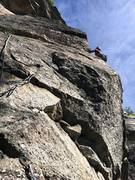 Rock Climbing Photo: After the traverse  and before my partner lost sig...