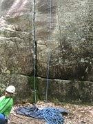 Rock Climbing Photo: Base of the crack!!