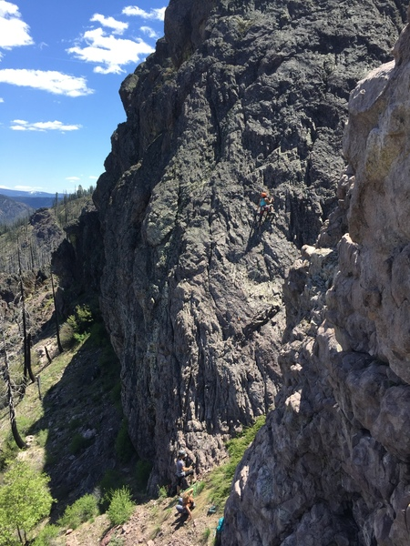 A fun route, a 70 meter rope is essential!