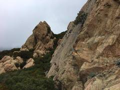 Rock Climbing Photo: Busy day at Saddle Peak. Prob about 25 people all ...