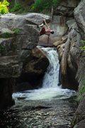 Rock Climbing Photo: Johnathan climbing on the Indian leap