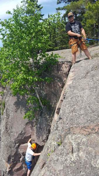 Rock Climbing Photo: Me and my brother in law at shovel point