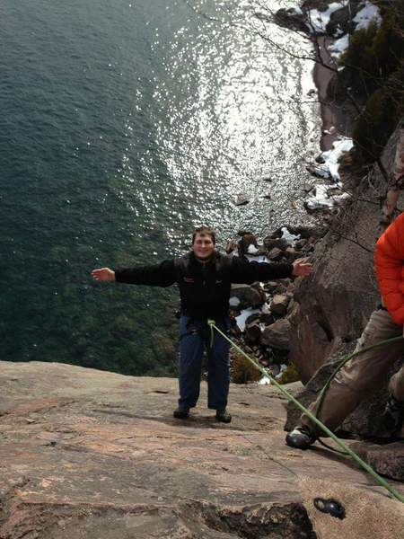 First ever outdoor climbing experience on dance of the sugar plumb ferries at shovel point