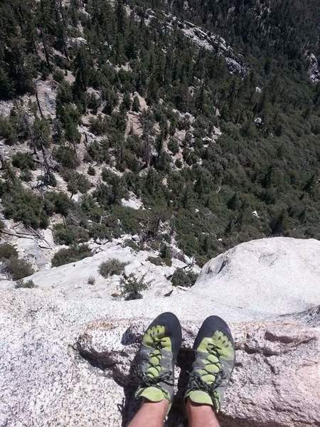 Rock Climbing Photo: first time on Tahquitz! Not sure what route it was