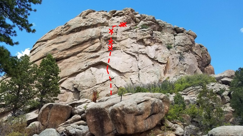 Rock Climbing Photo: Get on top of the block and continue up to the sma...