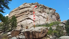 Rock Climbing Photo: Follow bolts up a face. Place gear in a right faci...