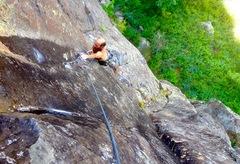 Rock Climbing Photo: The Dr following the fa