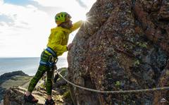 Rock Climbing Photo: Catching sun-rays on the ridge