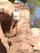 Rock Climbing Photo: Look Ma! No feet!