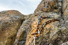 Rock Climbing Photo: Anchor at the top of Classic Crack & Arch Crack