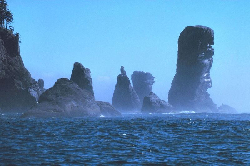 Rock Climbing Photo: Fuca Pillar as seen from the approach. Photo is f...