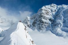 Rock Climbing Photo: Spectacular views!  Looking back towards Mt. Hunte...