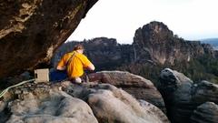 Rock Climbing Photo: Sandstone areas near Dresden, Germany.