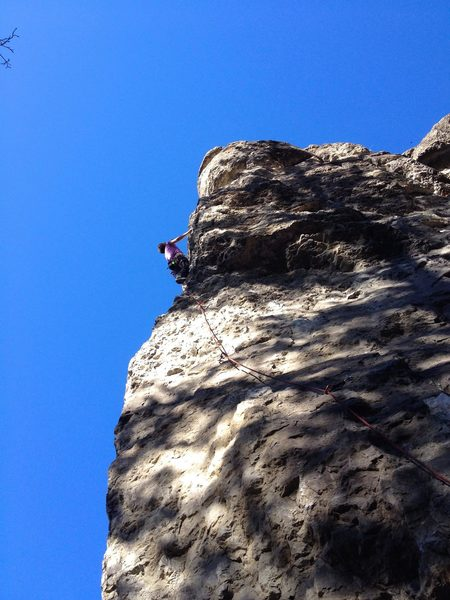Rock Climbing Photo: Fallon Rowe climbing Conventional Arms in October ...