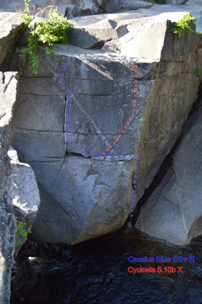 """Rock Climbing Photo: Cassius Blue in """"Blue"""" and """"Cyclosi..."""