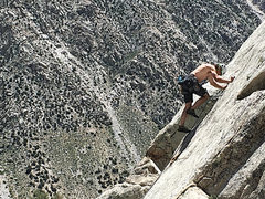 Rock Climbing Photo: Scott getting in touch with his inner slab.  1st c...
