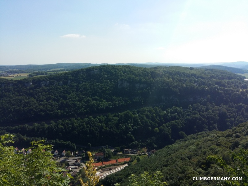 A view of the crags from the castle Lichtenstein.
