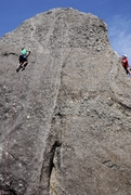 Rock Climbing Photo: Baker in green on Shady Proposition, me on Climbus...