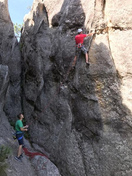 Rock Climbing Photo: Shady start