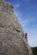 Rock Climbing Photo: Low crux then pure fun arete climbing