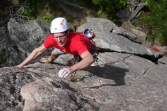 Rock Climbing Photo: Finishing up this route