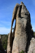 Rock Climbing Photo: Needle's Eye, Sam Carlson photo of me