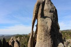 Rock Climbing Photo: Threading the needle, Sam Carlson photo