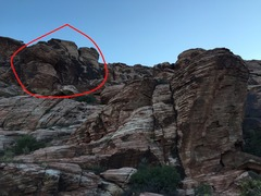Identifier for the CoCo Crag - look for the dark rock.