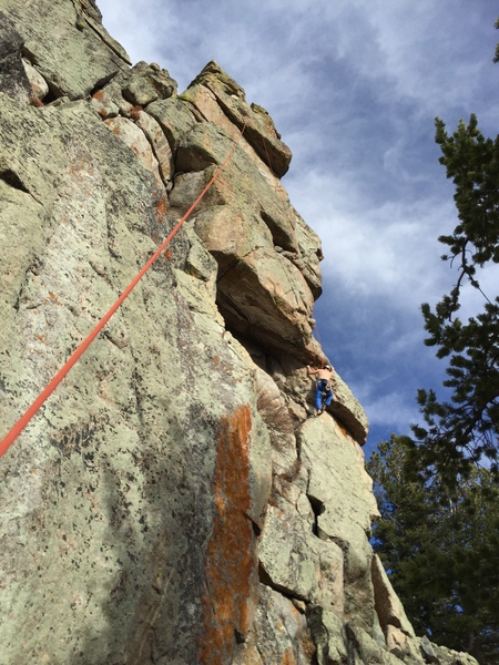 Rock Climbing Photo: A climber at the lower bulge pull with the entire ...