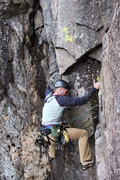 Rock Climbing Photo: Derek on P7