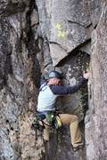 Rock Climbing Photo: Derek on P7