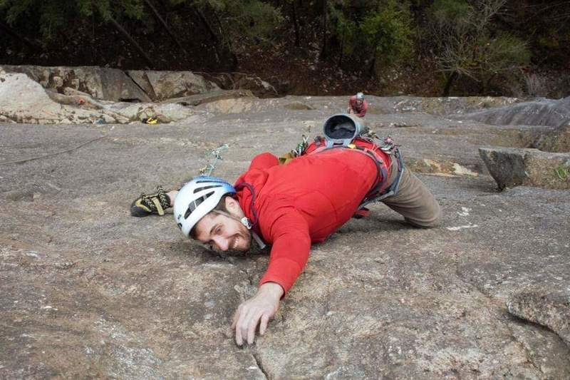 Rock Climbing Photo: Ryan on P4