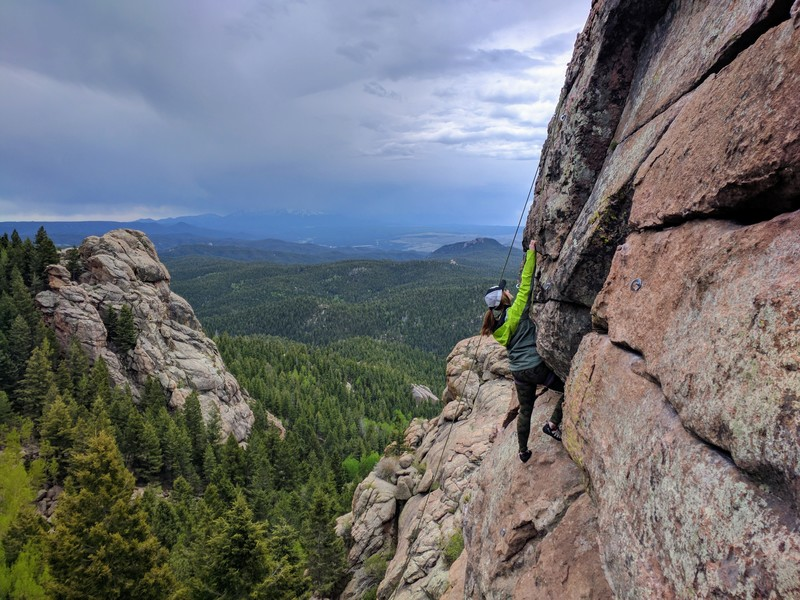 Rock Climbing Photo: Working on the crux.