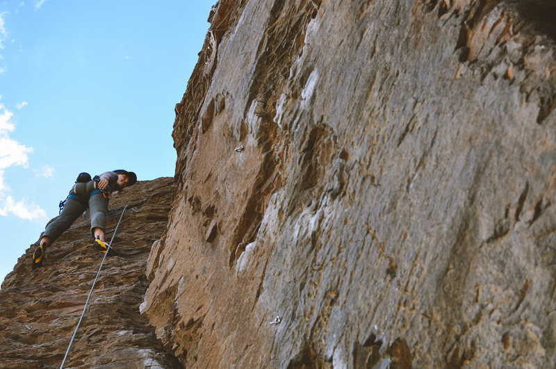 Rock Climbing Photo: At the top of an unknown 5.10 at the Feathers (did...