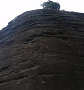Rock Climbing Photo: White strip is the bolt line right in the middle h...