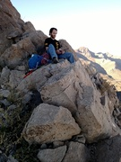 Rock Climbing Photo: Break time about 2/3 up the ridge with North Frank...
