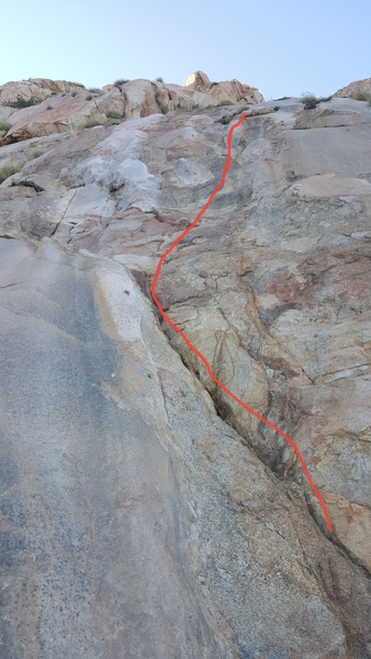 Madi's First, great for leaning to lead. Its the farthest left route when looking up the mountain.