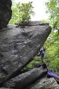 """Rock Climbing Photo: Elijah Kiser on the FA of """"War & Peace"""""""