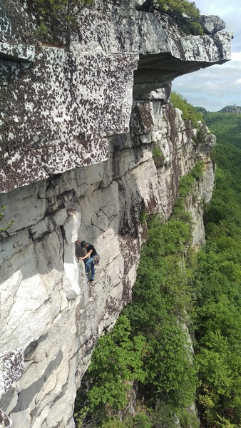 Rock Climbing Photo: Unknown climber on the first pitch, May 27, 2017